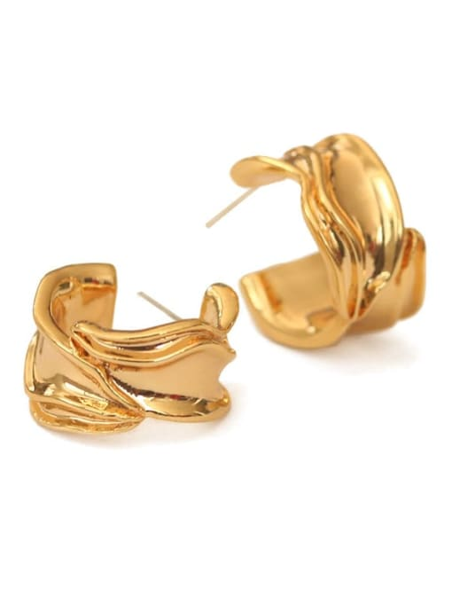 ACCA Brass Irregular Vintage Stud Earring 2