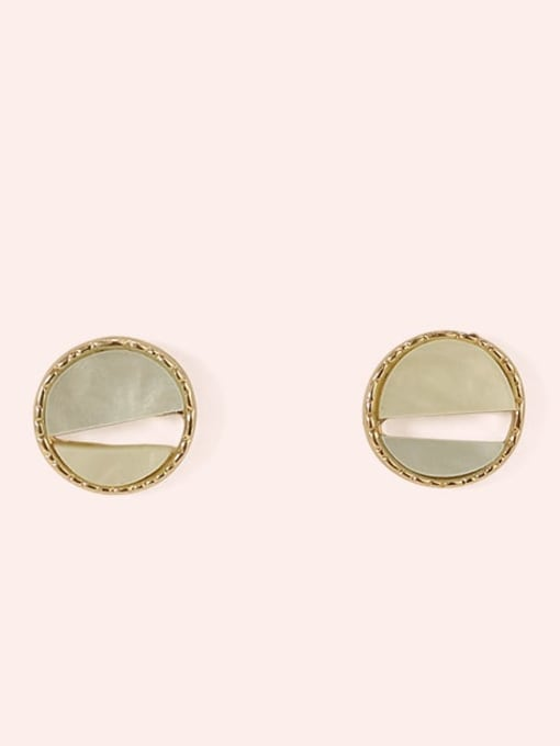 Section 6 Alloy Enamel  Cute Round Contrasting Color  Stud Earring