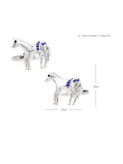 ThreeLink Brass Rhinestone Animal Vintage Cuff Link 3