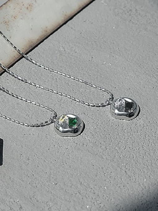 TINGS Brass Cubic Zirconia Geometric Vintage Necklace