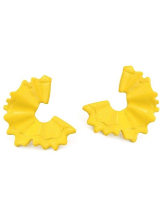 Five Color Alloy Enamel Irregular Minimalist Stud Earring 3