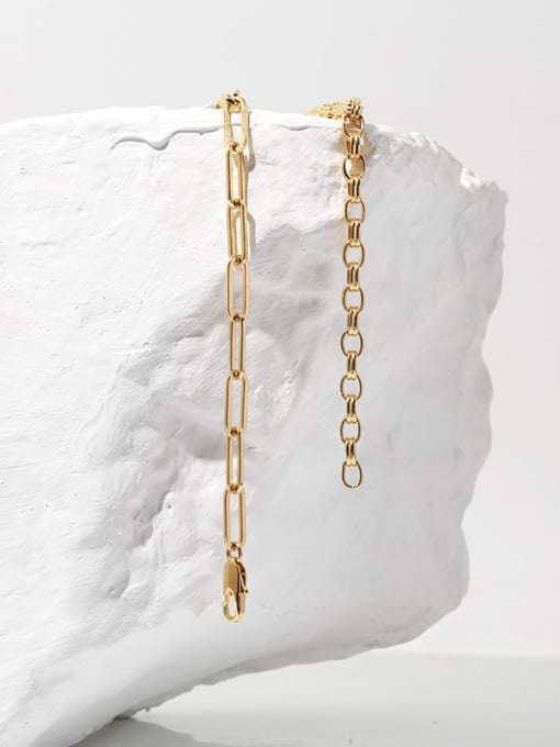 TINGS Brass Hollow Geometric Chain Hip Hop Necklace 2
