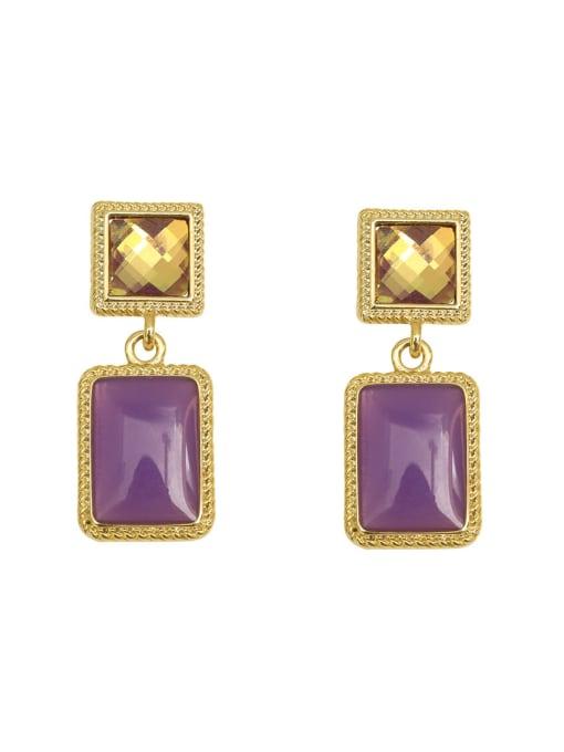 HYACINTH Copper Resin Geometric Vintage Drop Earring