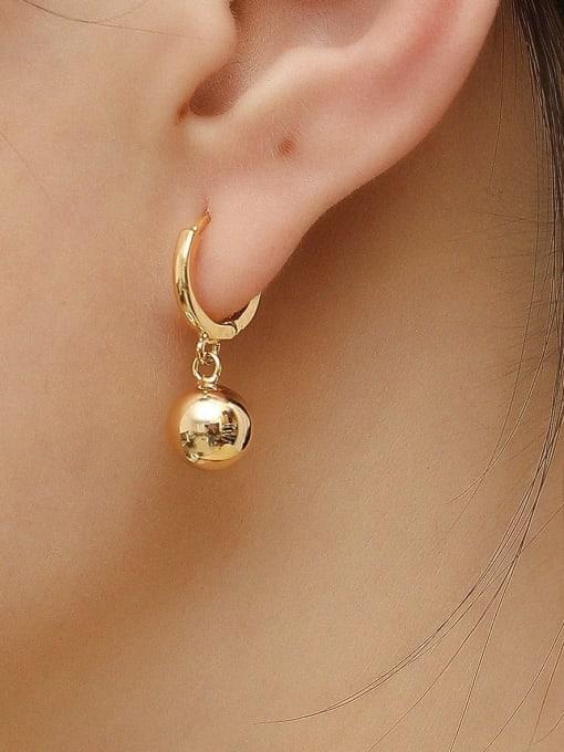 HYACINTH Brass Round Minimalist Huggie Earring 1