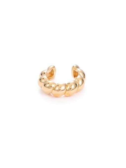 Mahua (Single) Brass Cubic Zirconia Geometric Minimalist Single Earring