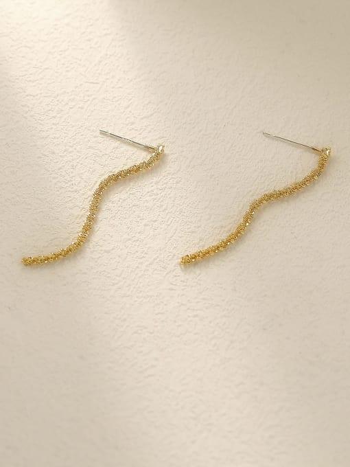 HYACINTH Brass Tassel Vintage Drop Earring 2
