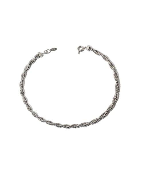 Hemp rope necklace Brass Hemp rope twist chain Hip Hop Necklace