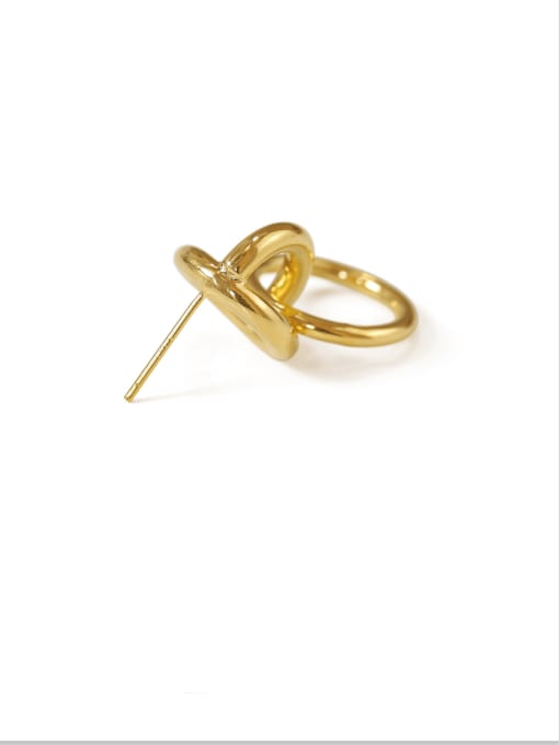 ACCA Brass Hollow geometry Vintage Drop Earring 3