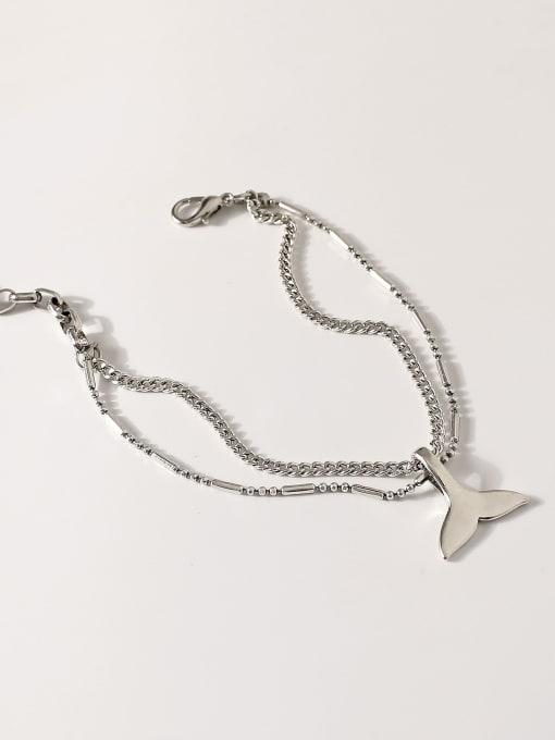 HYACINTH Alloy Fish tail Vintage Strand Bracelet 3