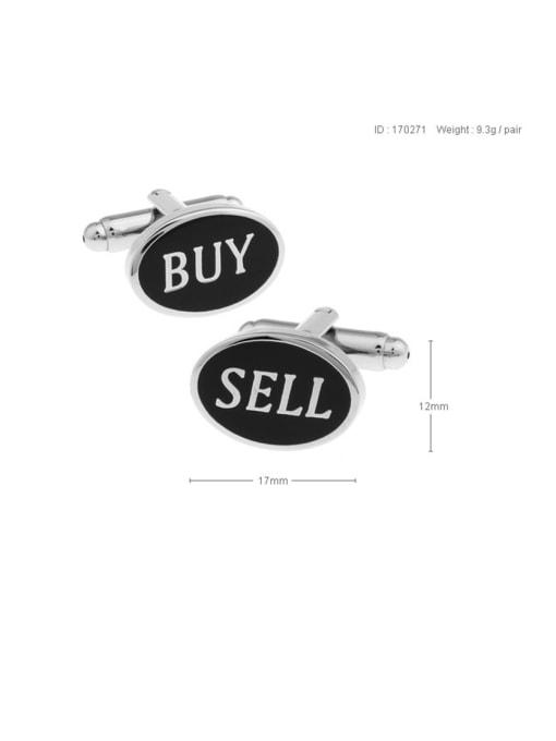 ThreeLink Brass Enamel Oval Vintage Cuff Link 1