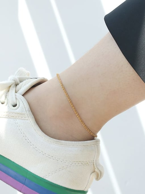 TINGS Brass  Irregular Minimalist Anklet 2
