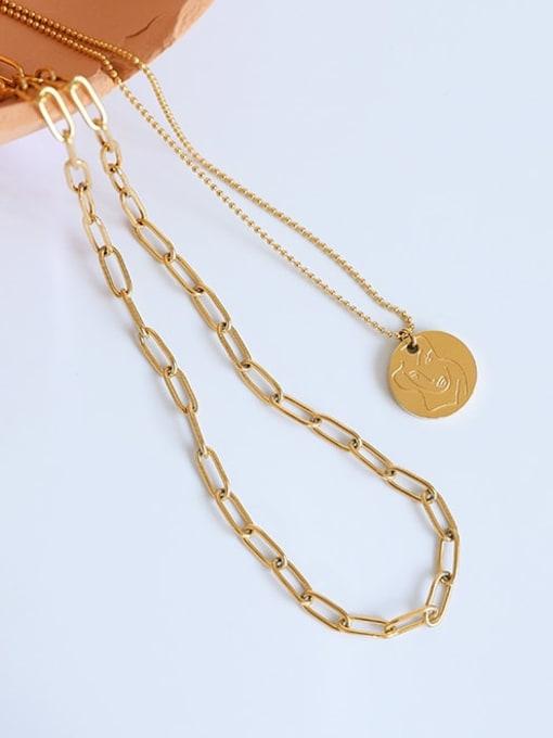 Five Color Titanium Steel Geometric Minimalist Necklace 0