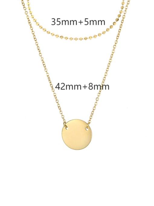 14k Gold Titanium Steel Geometric Minimalist Multi Strand Necklace