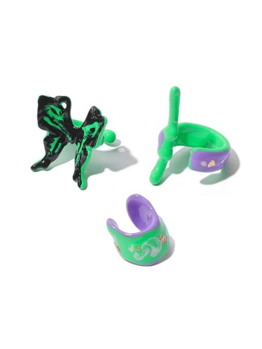 ACCA Brass Enamel Butterfly Minimalist Single Earring