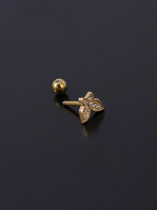 HISON Stainless steel with Cubic Zirconia Ear Bone Nail/Puncture Earring 3