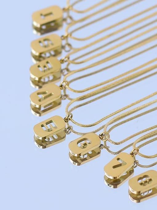 ACCA Titanium Steel Number Minimalist Pendant Necklace 3