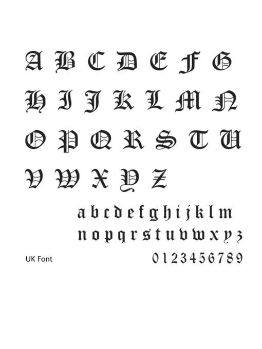 UK Stainless steel Letter Minimalist Custom Name Earrings