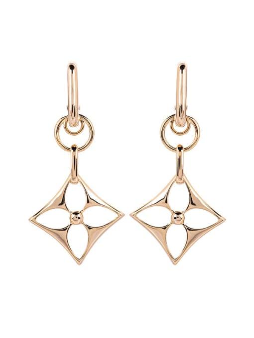 Geometry Brass Hollow Geometric Minimalist Huggie Earring