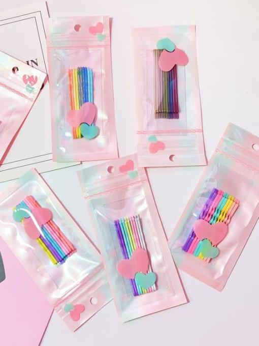 DINGHM Alloy Multi Color Enamel Cute Geometric  Hair Pin 0