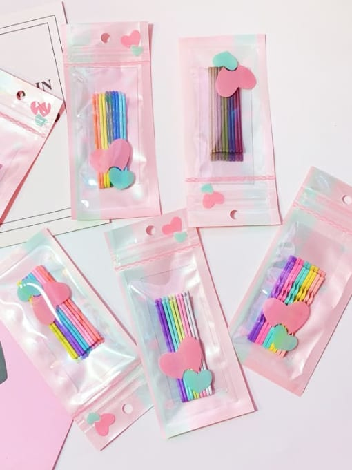 DINGHM Alloy Multi Color Enamel Cute Geometric  Hair Pin