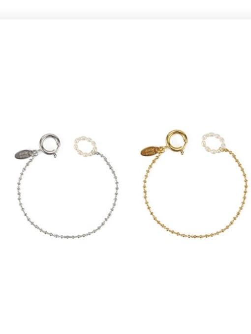 ACCA Brass Bead Geometric Vintage Beaded Bracelet 0