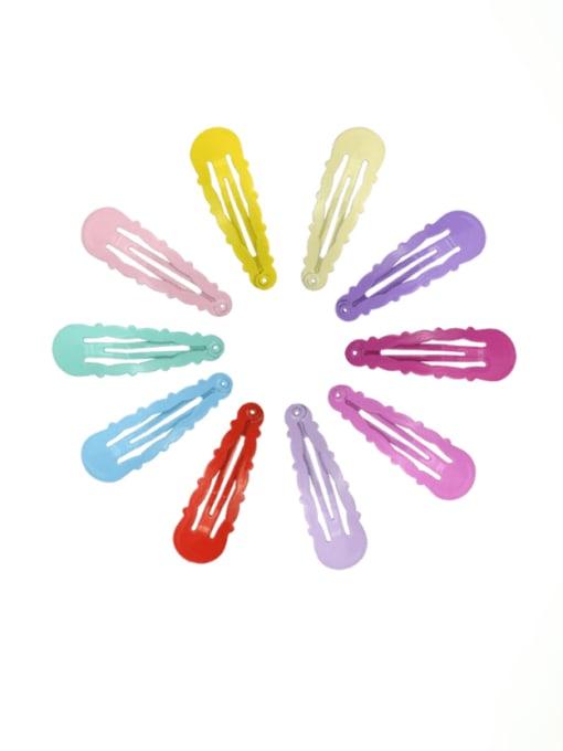 DINGHM Alloy Multi Color  Enamel Cute Water DropHair Barrette