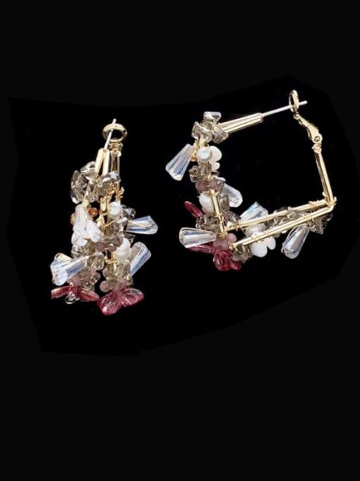 SUUTO Brass Cubic Zirconia Geometric Bohemia Huggie Earring 2