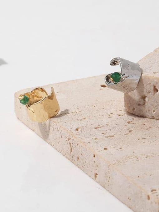 TINGS Brass Freshwater Pearl Geometric Hip Hop Single Earring 3
