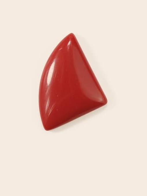 Red Earrings Alloy Enamel Geometric Cute Stud Earring