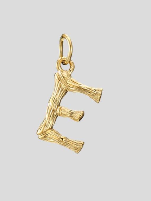 E 14K Gold Titanium Steel Letter Minimalist Necklace