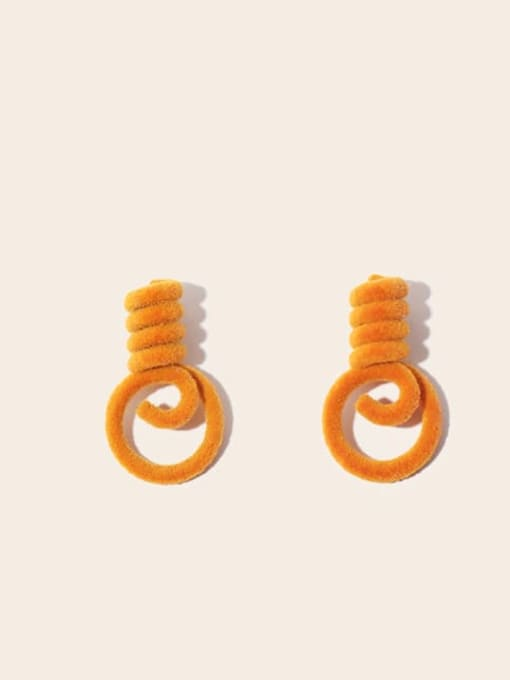 orange Alloy Cute Autumn and winter plush bulb  Stud Earring