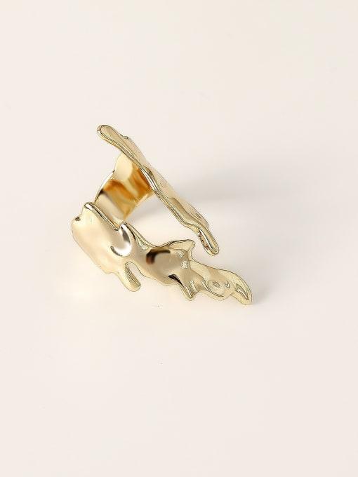 HYACINTH Brass Irregular Vintage Band Fashion Ring 0