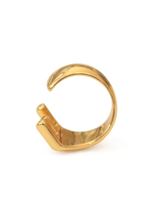 ACCA Brass  26 Letter Vintage Band Ring 3