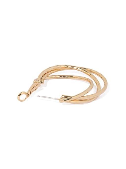 ACCA Brass Geometric Vintage Huggie Earring 3