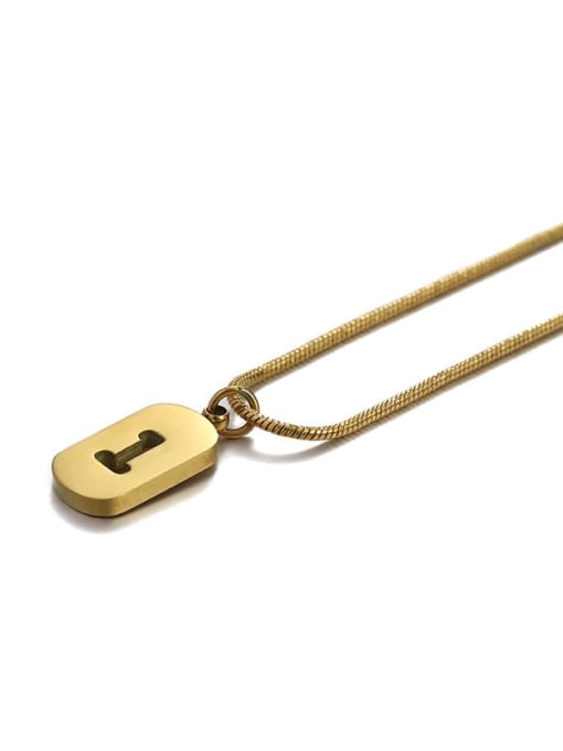 ACCA Titanium Steel Number Minimalist Pendant Necklace