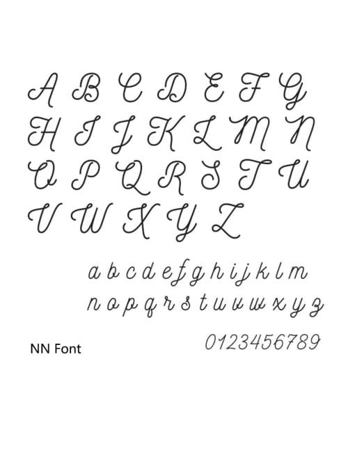 nN Stainless steel Letter Minimalist Custom Name Earrings