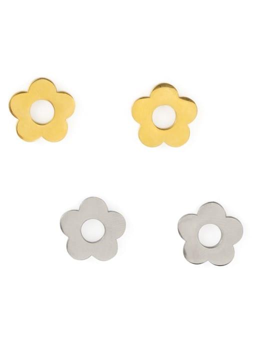ACCA Titanium Flower Minimalist Stud Earring 2