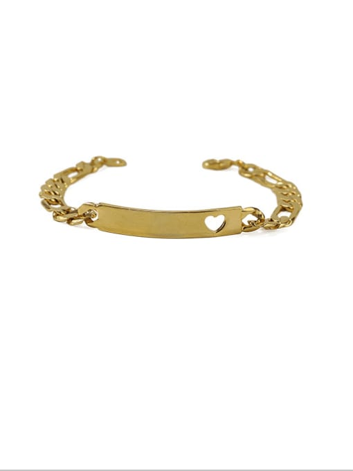 ACCA Brass Smooth Geometric Vintage Bracelet