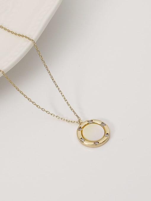HYACINTH Brass Shell Geometric Minimalist Necklace