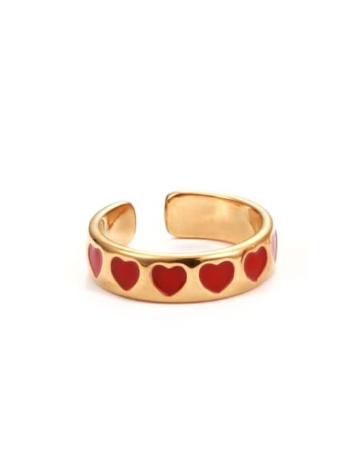 Heart ring Zinc Alloy Enamel Heart Minimalist Band Ring
