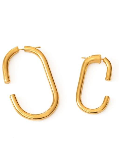 Small rectangle Brass Geometric Minimalist Stud Earring