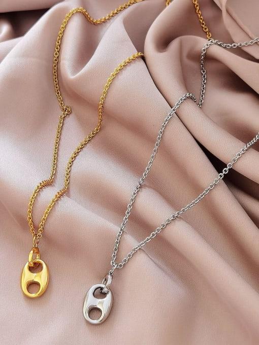 HYACINTH Brass Geometric Minimalist Necklace 0