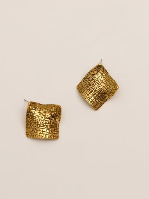 HYACINTH Brass Geometric Vintage Stud Earring 2