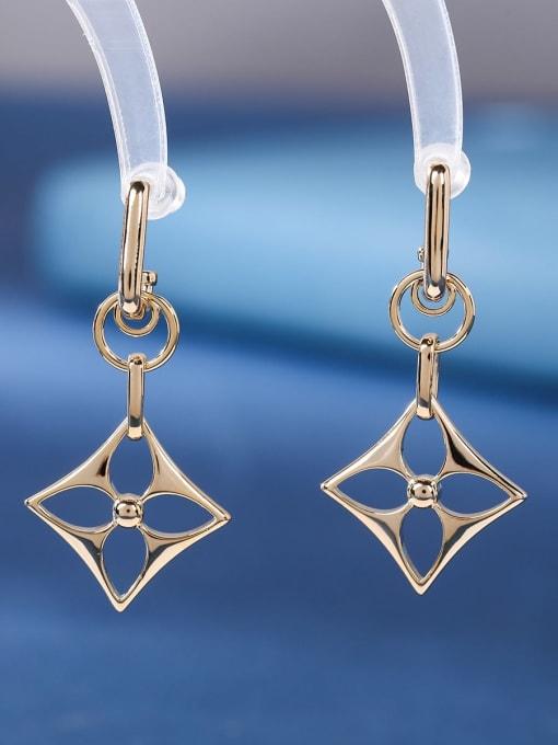OUOU Brass Hollow Geometric Minimalist Huggie Earring 1