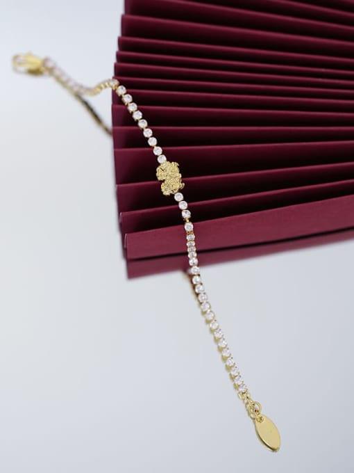 Five Color Brass Cubic Zirconia Geometric Hip Hop Bracelet 2