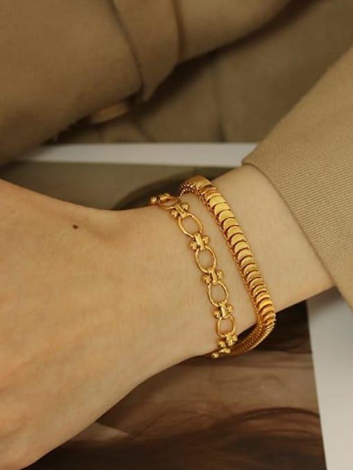 ACCA Brass Geometric Vintage Bracelet 1