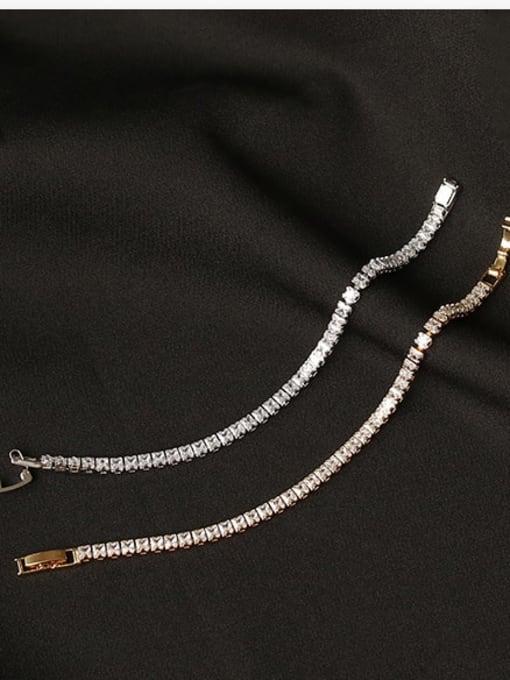 ACCA Brass Cubic Zirconia Geometric Dainty Bracelet 2