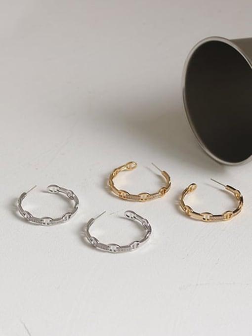ACCA Brass Geometric Vintage Hoop Earring 3