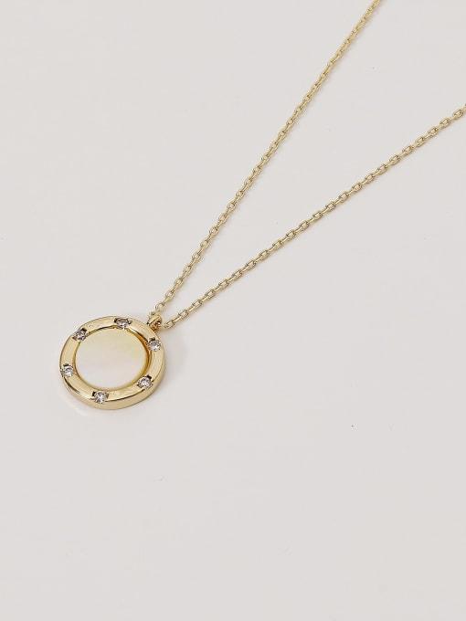 HYACINTH Brass Shell Geometric Minimalist Necklace 4