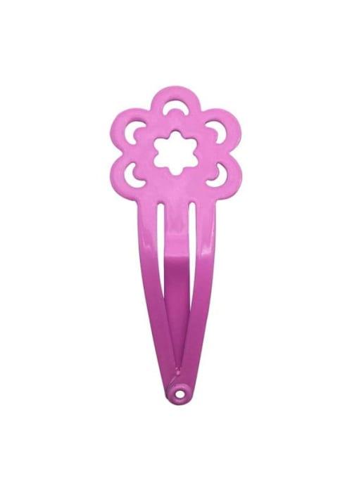 2 Pink Alloy Multi Colo Enamel Cute Flowerr Hair Barrette
